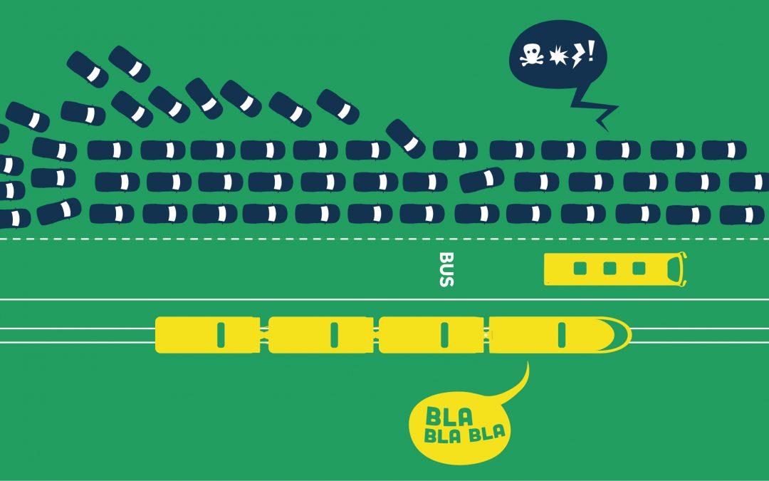 Action 'Saint-Valentrain' 13/02/2020 – Réinvestir dans les transports en commun pour des déplacements efficaces